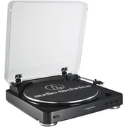 Audio Technica At-Lp60Bk Fully Automatic Belt-Drive Stereo Turntable (Black)