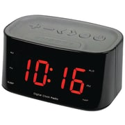 "Sylvania Scr3130Bt-Black 1.2"" Bluetooth Dual Alarm Clock Radio (Black)"