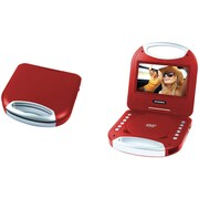 "Sylvania Sdvd7049-Red 7"" Portable Dvd Player With Integrated Handle (Red)"