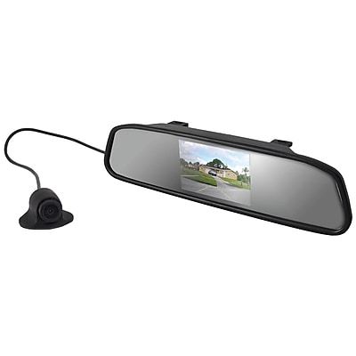 Pyle Pro Plcm4340 Rearview Mirror Monitor Backup Camera With Distance Scale Lines Parking Assist