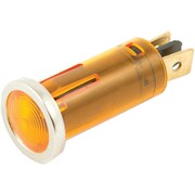 "Battery Doctor 20540 12-Volt .5"" Round Indicator Light With Chrome Bezel (Amber)"