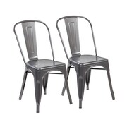 United Chair Industries LLC 17'' Bar Stool (Set of 2); Matte Silver
