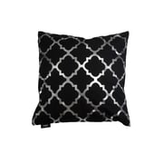 DR International Holly Decorative Throw Pillow; Black/Silver