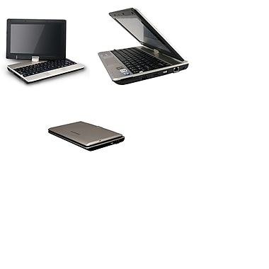 Gigabyte - Portatif T1000 10,1 po 1,66 GHz Intel Atom N470, RAM 2Go, DD 250Go, Windows 10 Pro, remis à neuf, anglais/français