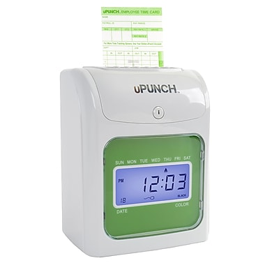uPunch HN3000SC Electronic Punch Card Time Clock Bundle