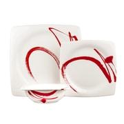 Red Vanilla Paint It 18 Piece Dinnerware Set