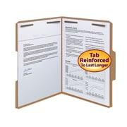 Smead® Fastener File Folder, 2 Fasteners, Reinforced 1/3-Cut Tab, Letter Size, 50/Box (14837)