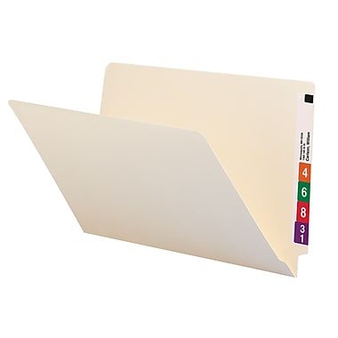 Smead® End Tab File Folder, Straight-Cut Tab, Legal Size, Manila, 100/Box (27100)