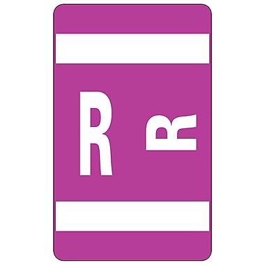 Smead Alpha-Z Color-Coded Alphabetical Labels Second Letter Package Set R, Purple