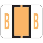 Smead® BCCR Bar-Style Color-Coded Alphabetic Label, B, Label Roll, Light Orange, 500 labels/Roll, (67072)