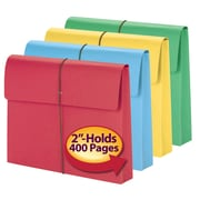 """Smead® Expanding Wallet, 2"""" Expansion, Flap and Cord Closure, Letter Size, Assorted Colors, 50/Box (77251)"""