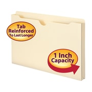 "Smead® File Jacket, Reinforced Tab, 1"" Expansion, Legal Size, Manila, 50/Box (76520)"