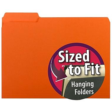 Smead® Interior File Folder, 1/3-Cut Tab, Letter Size, Orange, 100/Box (10259)