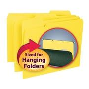 Smead® Interior File Folder, 1/3-Cut Tab, Letter Size, Yellow, 100/Box (10271)