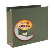 "Smead® Hanging Box Bottom File Folder, 3"" Expansion, Letter Size, Standard Green, 25/Box (64279)"