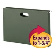 "Smead®  Hanging File Pocket, 1-3/4"" Expansion, Legal Size, Standard Green, 25 per Box (64318)"