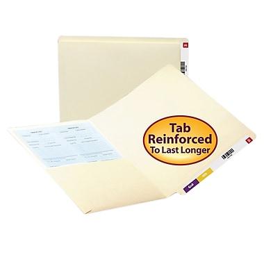 Smead® End Tab Pocket Folder, Shelf-Master® Reinforced Straight-Cut Tab, 1 Pocket, Letter Size, Manila, 50/Box (24115)