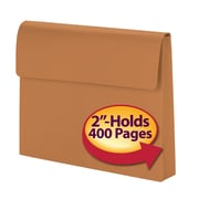 """Smead® Expanding Wallet, 2"""" Expansion, Flap with VELCRO® Closure, Letter Size, Redrope, Each (77142)"""