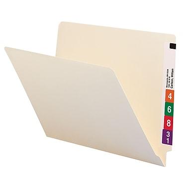 Smead® End Tab File Folder, Straight-Cut Tab, Letter Size, Manila, 100/Box (24100)