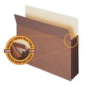 "Smead® TUFF® Pocket File Pocket, Straight-Cut Tab, 3-1/2"" Expansion, Letter Size, Redrope, 10/Box (73380)"