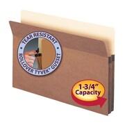 "Smead®  File Pocket, Straight-Cut Tab, 1-3/4"" Expansion, Legal Size, Redrope, 25 per Box (74214)"