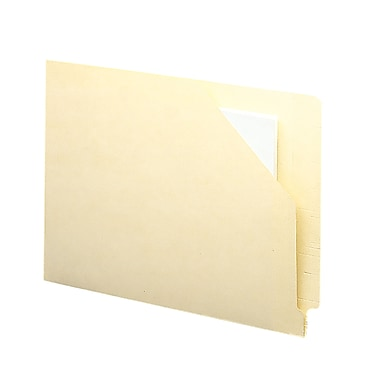 Smead® End Tab File Jacket, Antimicrobial, Reinforced Straight-Cut Tab, Flat-No Expansion, Letter, Manila, 100/Box (75715)