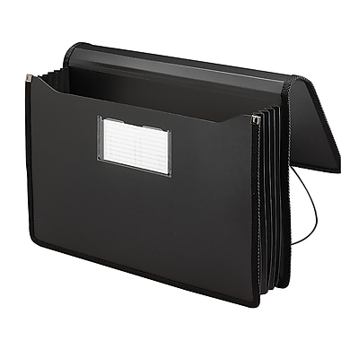 Smead® Poly Premium Wallet, 5-1/4in. Expansion, Legal Size, Black (71510)