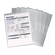 Smead® Poly Translucent Project File Jacket, Letter Size, Clear, 5/Pack (85751)