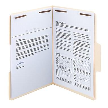 Smead® SuperTab® Fastener File Folder, 2 Fasteners, Oversized 1/3-Cut Tab, Legal Size, Manila, 50/Box (19535)