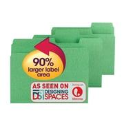 Smead® SuperTab® File Folder, Oversized 1/3-Cut Tab, Letter Size, Green, 100/Box (11985)