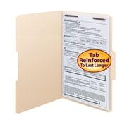 Smead® Fastener File Folder, 1 Fastener, Reinforced 1/3-Cut Tab, Legal Size, Manila, 50/Box (19534)