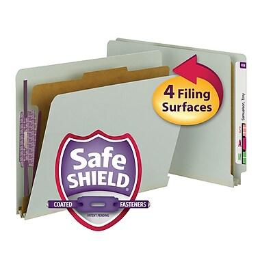 Smead® End Tab Pressboard Classification File Folder, SafeSHIELD® Fasteners, 2