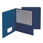 "Smead Two Pocket Portfolios, Dark Blue, 8 1/2"" x 11"", 25/Bx"