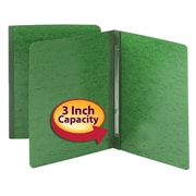 "Smead Hinge Pressboard Binder, Green, 11"" x 8 1/2"""