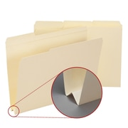 "Smead® File Folder, Reinforced 1/3-Cut Tab, 1-1/2"" Expansion, Letter Size, Manila, 50/Box (10405)"
