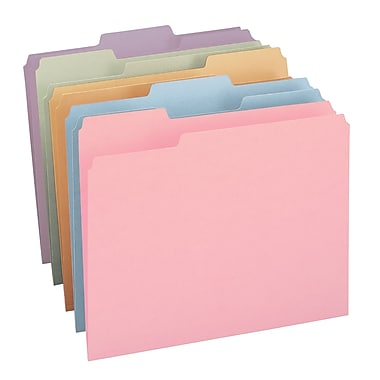 Smead® File Folder, 1/3-Cut Tab, Letter Size, Assorted Colors, 100 per Box, (11953)