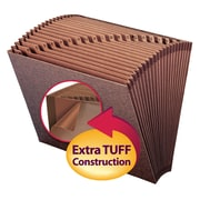 Smead®  TUFF® Expanding File, Alphabetic (A-Z), 21 Pockets, Letter Size, Redrope-Printed Stock (70425)