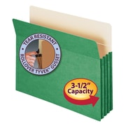 "Smead® File Pocket, Straight-Cut Tab, 3-1/2"" Expansion, Letter Size, Green, Each (73226)"