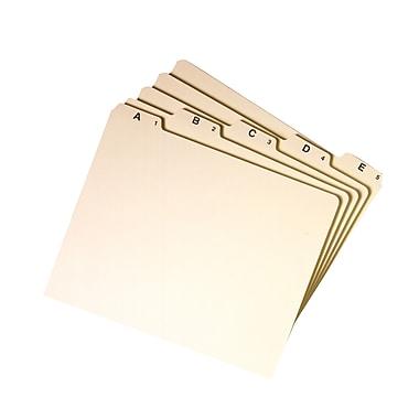 Smead® Guides, Plain 1/5-Cut Tab (A-Z), Letter Size, Manila, 25/Set (50176)