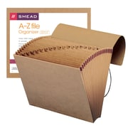 Smead® Expanding File, Alphabetic (A-Z), 21 Pockets, Flap and Cord Closure, Letter Size, Kraft (70121)