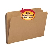 Smead® File Folder, Reinforced 1/3-Cut Tab, Legal Size, Kraft, 100/Box (15734)