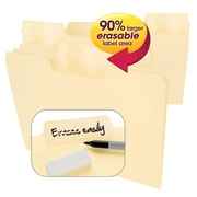 Smead® Erasable SuperTab® File Folders, Erasable 1/3-Cut Tabs, Letter, Manila, 24/Pack (10380)