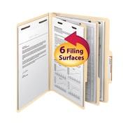 "Smead® Classification File Folder, 2 Divider, 2"" Expansion, Letter Size, Manila, 10/Box (14000)"