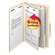 "Smead® Classification File Folder, 2 Divider, 2"" Expansion, Legal Size, Manila, 10/Box (19000)"