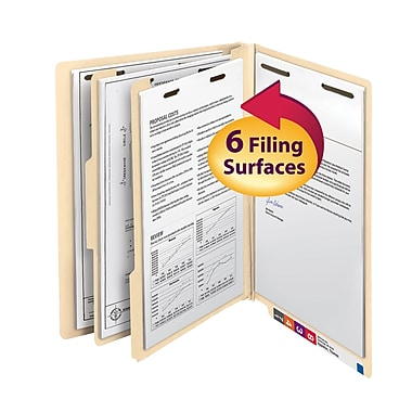 Smead® End Tab Classification File Folder, 2 Divider, 2