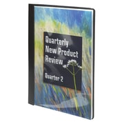 """Smead Vinyl Clear Front Report Covers, Black, 8 1/2"""" x 11"""", 25/Bx"""