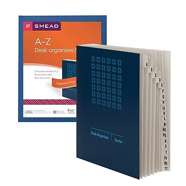 Smead® Desk File/Sorter Alphabetic (A-Z) 20 Dividers Blue (89282)