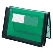 "Smead® Poly Wallet, 2-1/4"" Expansion, Flap and Cord Closure, Letter Size, Green (71951)"