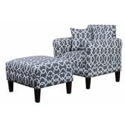 Carolina Accents Briley Ottoman; Pewter