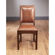 AA Importing Stitched Back Leather Side Chair